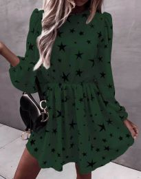 Φόρεμα - κώδ. 1689 - σκούρο πράσινο