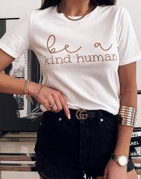 Κοντομάνικο μπλουζάκι - κώδ. 2281 - λευκό
