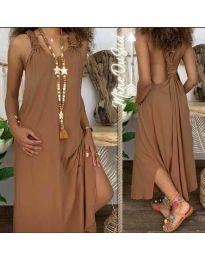 Φόρεμα - κώδ. 9597 - καφέ