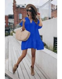 Φόρεμα - κώδ. 6868 - σκούρο μπλε