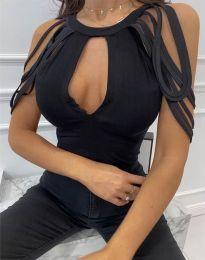 Елегантен дамски топ в черно - код 1095