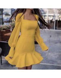 Φόρεμα - κώδ. 3605 - μουσταρδί