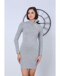 Φόρεμα - κώδ. 7099 - 5 - γκρι