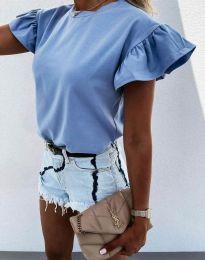 Κοντομάνικο μπλουζάκι - κώδ. 4352 - μπλε