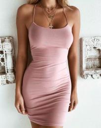 Φόρεμα - κώδ. 9098 - ροζ