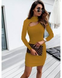 Φόρεμα - κώδ. 883 - μουσταρδί