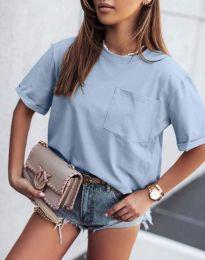 Κοντομάνικο μπλουζάκι - κώδ. 11953 - μπλε