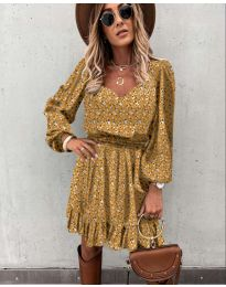 Φόρεμα - κώδ. 0366 - μουσταρδί