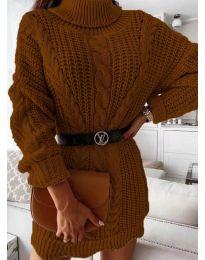 Φόρεμα - κώδ. 6071 -  καφέ