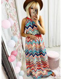 Φόρεμα - κώδ. 9859 - πολύχρωμο