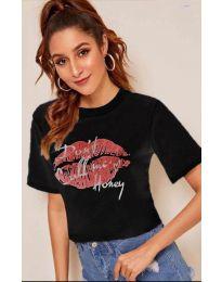 Κοντομάνικο μπλουζάκι - κώδ. 914 - μαύρο