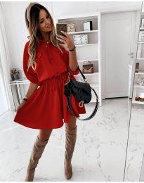 Φόρεμα - κώδ. 8586 - κόκκινο
