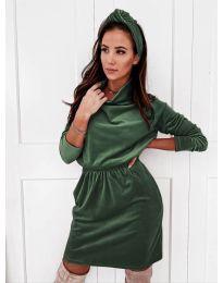 Φόρεμα - κώδ. 1714 - σκούρο πράσινο