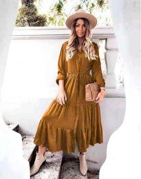 Φόρεμα - κώδ. 6522 - καφέ