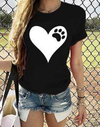 Κοντομάνικο μπλουζάκι - κώδ. 3204 - 3 - μαύρο