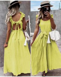 Φόρεμα - κώδ. 4806 - κίτρινο
