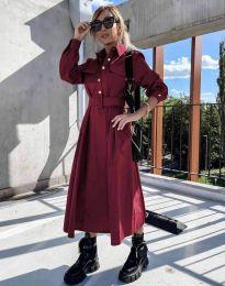 Φόρεμα - κώδ. 1467 - μπορντό