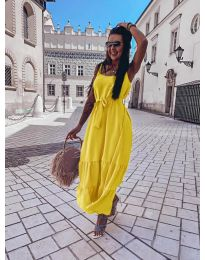 Φόρεμα - κώδ. 1230 - κίτρινο