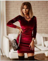 Φόρεμα - κώδ. 4161 - 2 - μπορντό