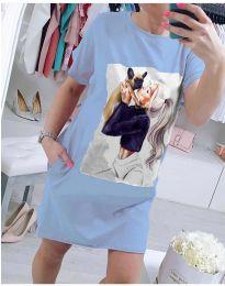 Φόρεμα - κώδ. 619 - γαλάζιο