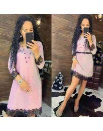 Φόρεμα - κώδ. 1426 - ροζ
