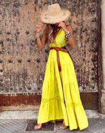 Φόρεμα - κώδ. 0817 - κίτρινο