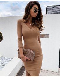 Φόρεμα - κώδ. 4040 - καπουτσίνο