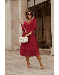 Φόρεμα - κώδ. 9994 - μπορντό