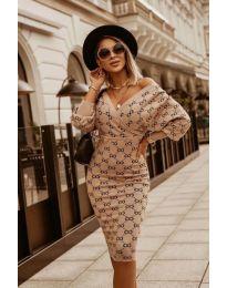 Φόρεμα - κώδ. 3102 - μπεζ