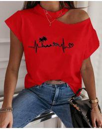 Κοντομάνικο μπλουζάκι - κώδ. 206 - κόκκινο