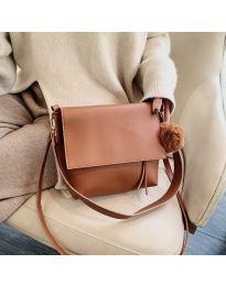 Τσάντα - κώδ. B23-5977 - καφέ