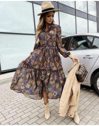 Φόρεμα - κώδ. 9660 - 7 - πολύχρωμο
