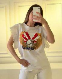 Κοντομάνικο μπλουζάκι - κώδ. 1436 - 1 - λευκό