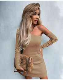 Φόρεμα - κώδ. 4933 - μπεζ