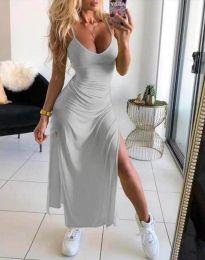 Φόρεμα - κώδ. 4754 - 5 - σκούρο γκρι