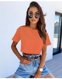 Κοντομάνικο μπλουζάκι - κώδ. 608 - πορτοκαλί
