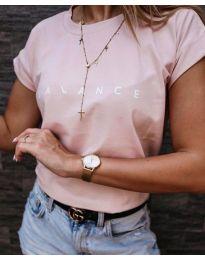 Κοντομάνικο μπλουζάκι - κώδ. 3618 - ροζ