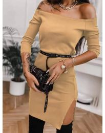 Φόρεμα - κώδ. 4720 - μουσταρδί