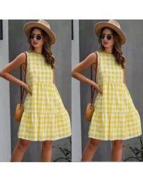 Φόρεμα - κώδ. 2123 - κίτρινο