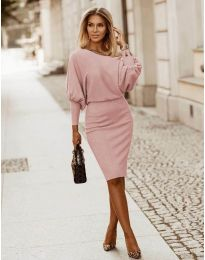 Φόρεμα - κώδ. 2242 - πούδρα