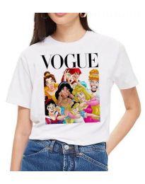 Κοντομάνικο μπλουζάκι - κώδ. 3662 - λευκό