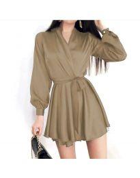 Φόρεμα - κώδ. 8754 - μπεζ