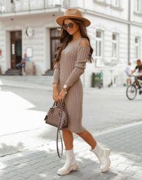 Φόρεμα - κώδ. 8203 - καπουτσίνο