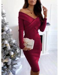 Φόρεμα - κώδ. 6130 - μπορντό