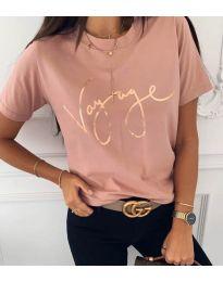 Κοντομάνικο μπλουζάκι - κώδ. 3350 - ροζ