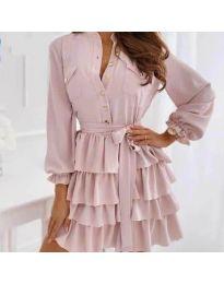 Φόρεμα - κώδ. 7356 - πούδρα