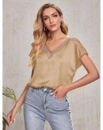 Κοντομάνικο μπλουζάκι - κώδ. 5754 - μπεζ
