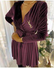 Φόρεμα - κώδ. 8619 - 3 - μπορντό