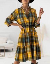 Φόρεμα - κώδ. 6842 - μουσταρδί