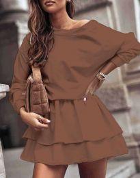 Φόρεμα - κώδ. 0525 - καφέ
